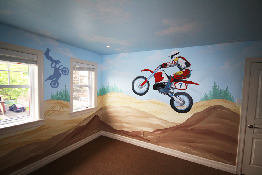 All about dirt bikes on pinterest dirt bikes suzuki for Dirt bike bedroom ideas